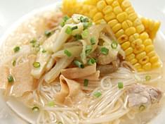 No.35  焼き茄子の湯葉スープ